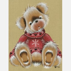 nounours  pull rouge